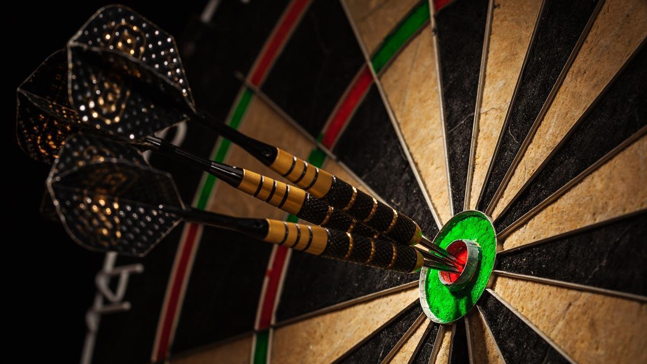 Playing darts - it's that easy - a dartboard