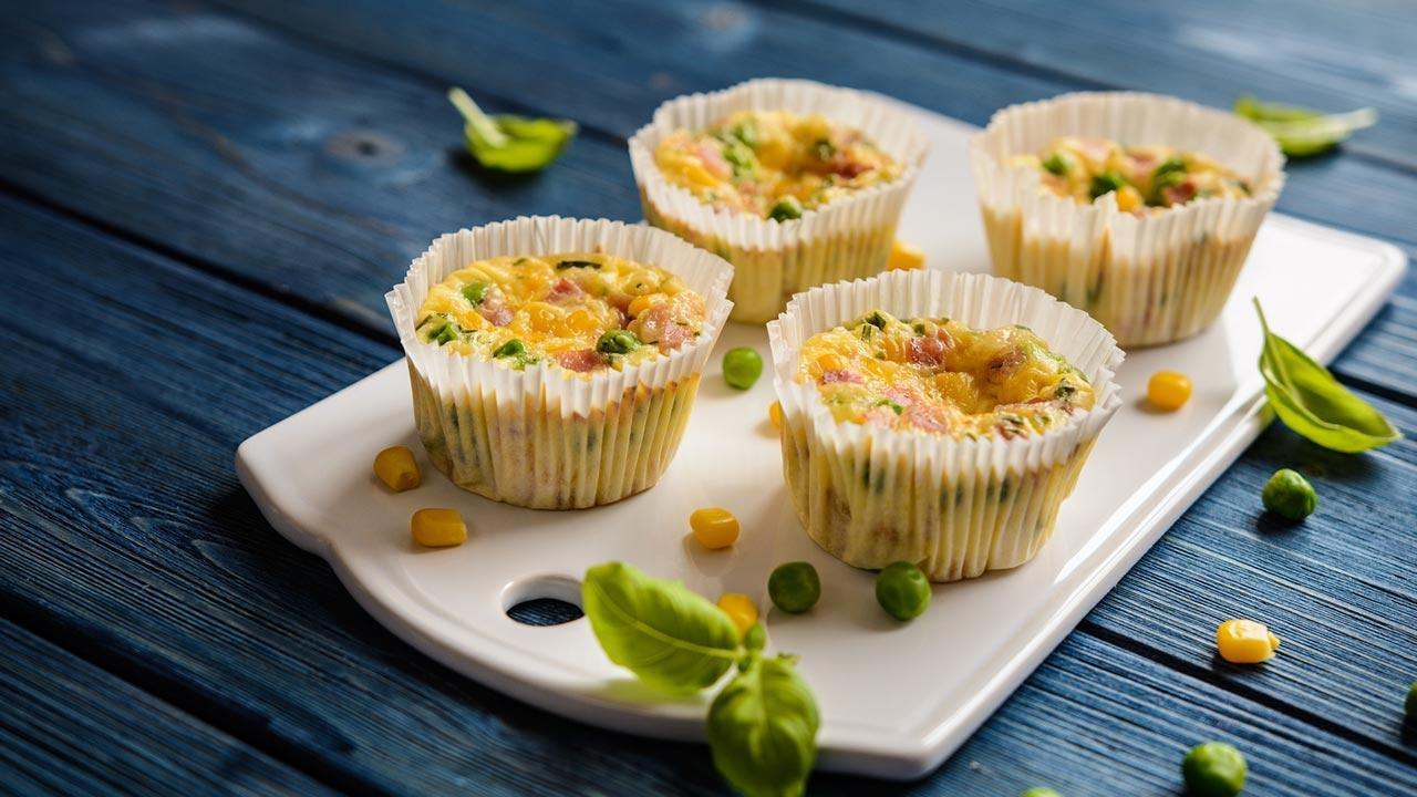 Omelette - muffins - ready made omelette - muffins