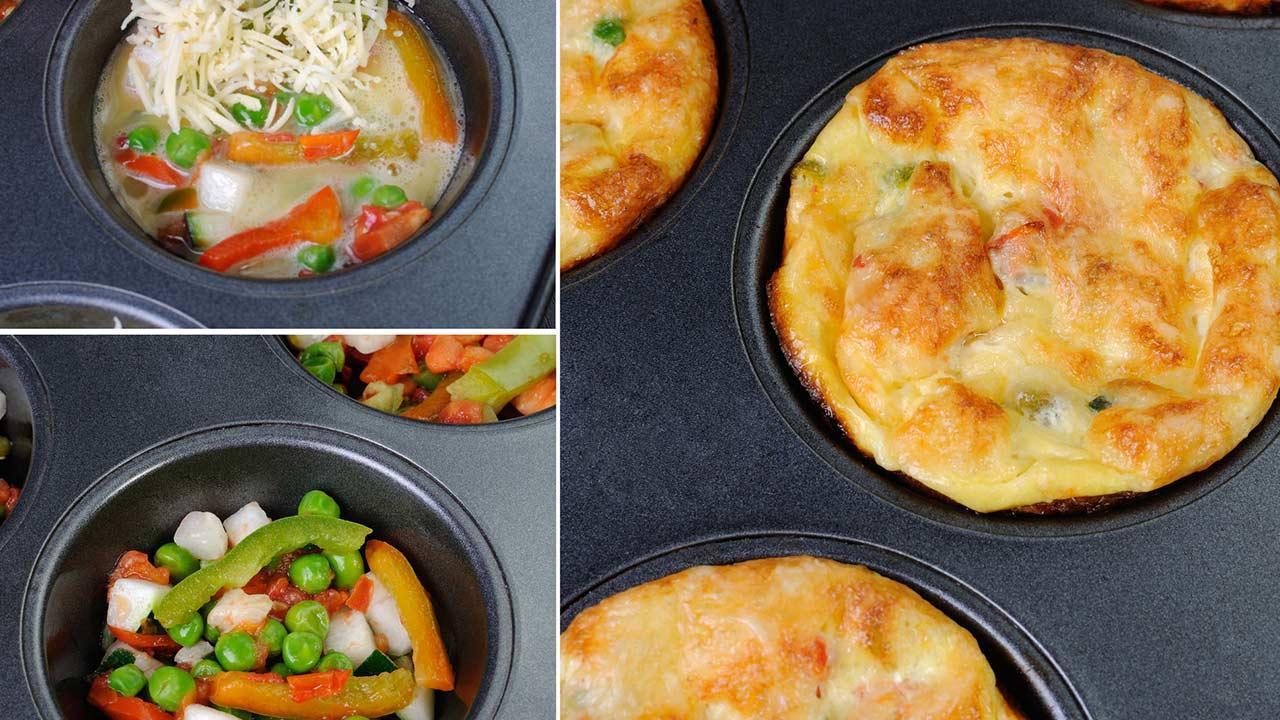 omelette - muffins - homemade omelette - muffins