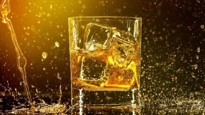 Whisky on the rocks or without ice