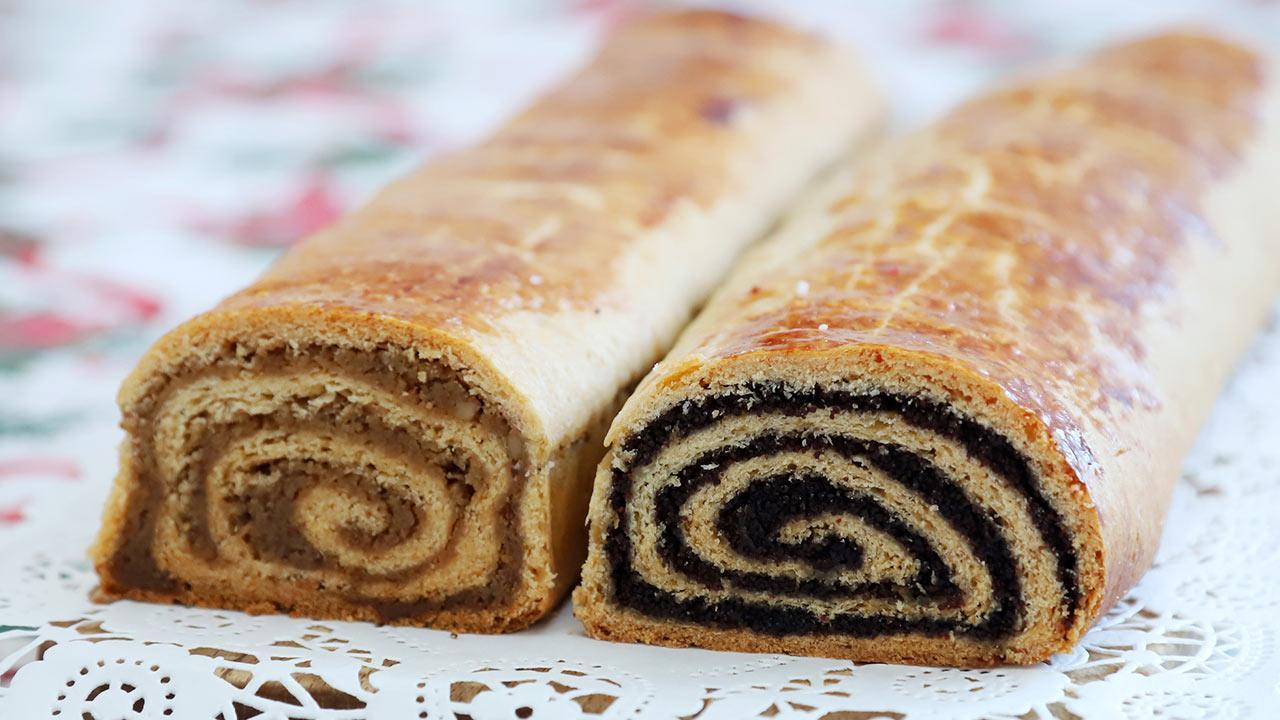 Delicious poppy seed cake recipes / homemade poppy seed and walnut rolls