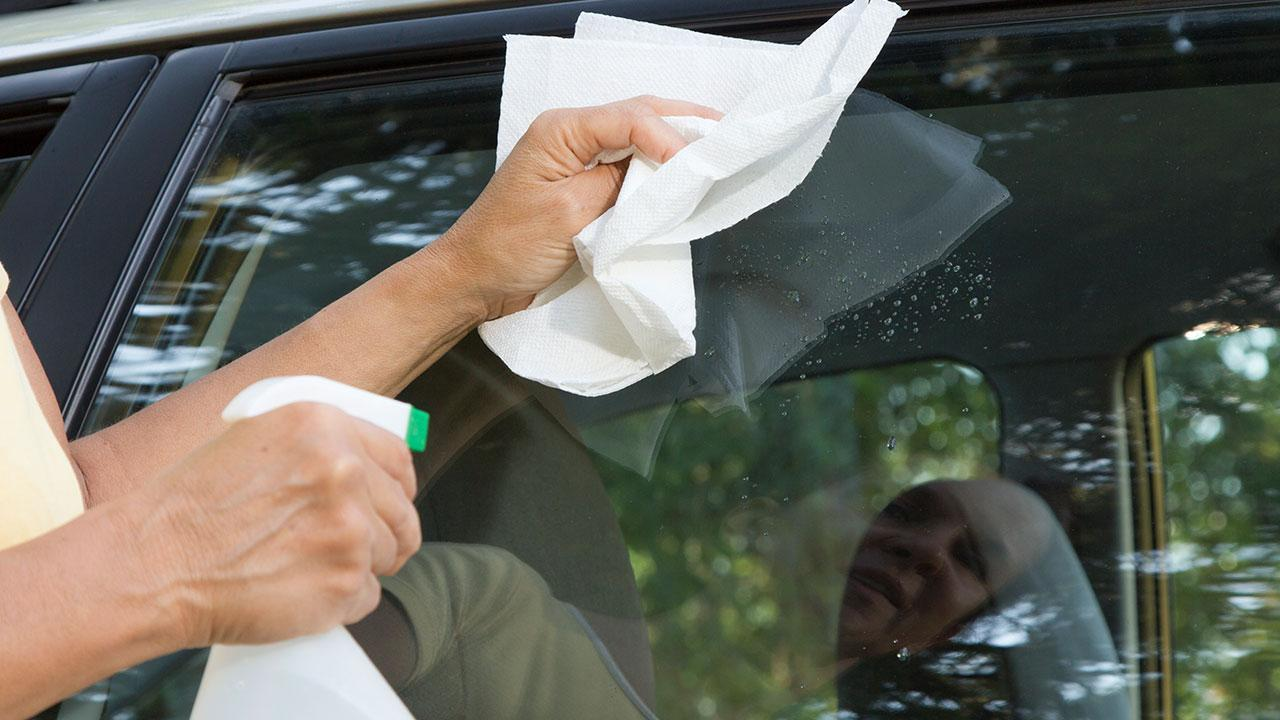 Maintaining door rubbers in the car - Cleaning edges