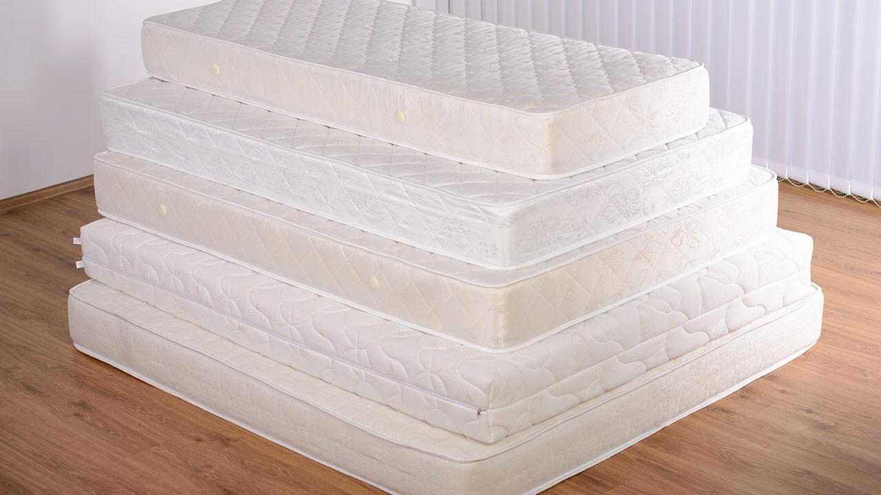 Tips against back pain - a good mattress / different mattresses