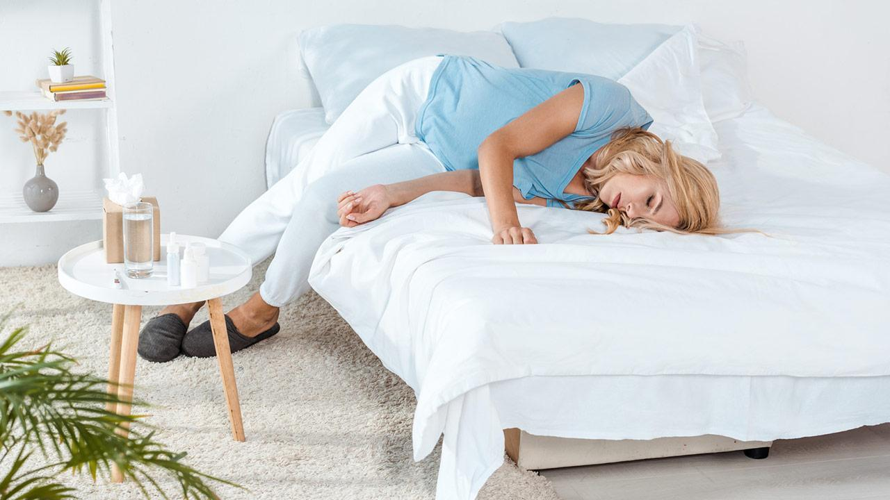 Which waterbed is right for me? / a woman on a waterbed
