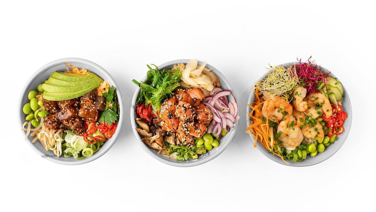 Poke - fish salad from Hawaii / various Pokes