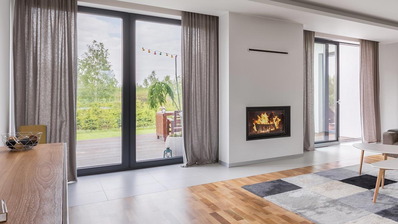 Curtain - the draught killer - designer living room