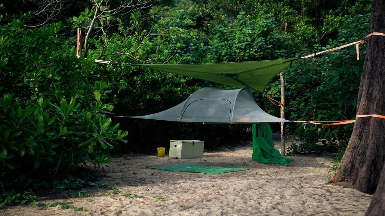 Tree tents - an exceptional overnight accommodation / a tree tent