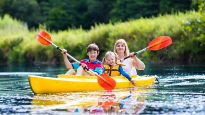 Discover German rivers by canoe - with family