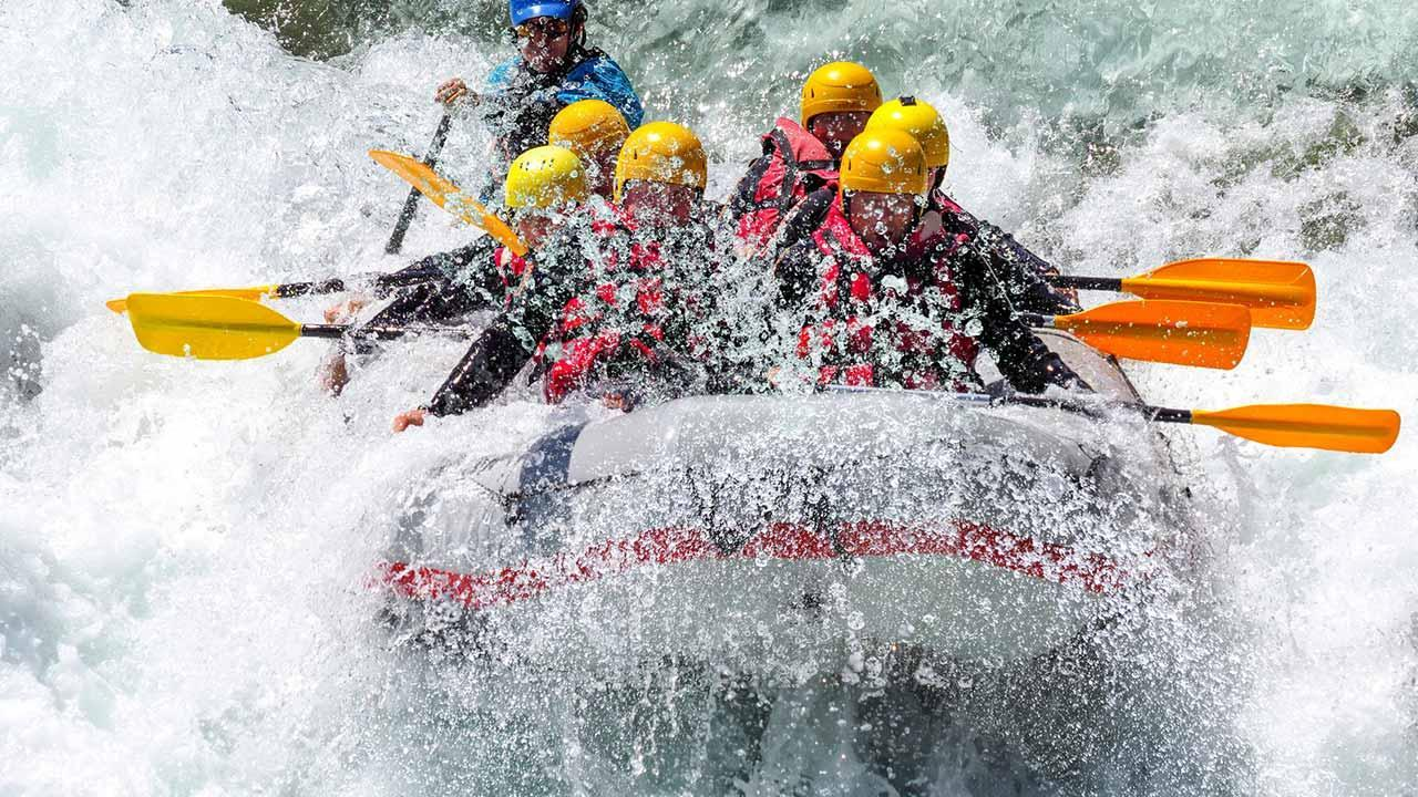 The most beautiful rafting spots - wild waters