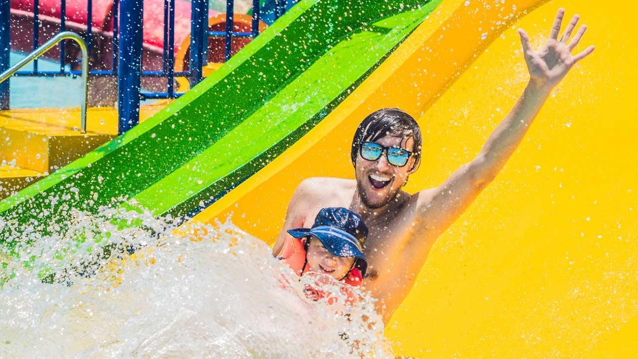 The most beautiful adventure pools in Germany - water slide