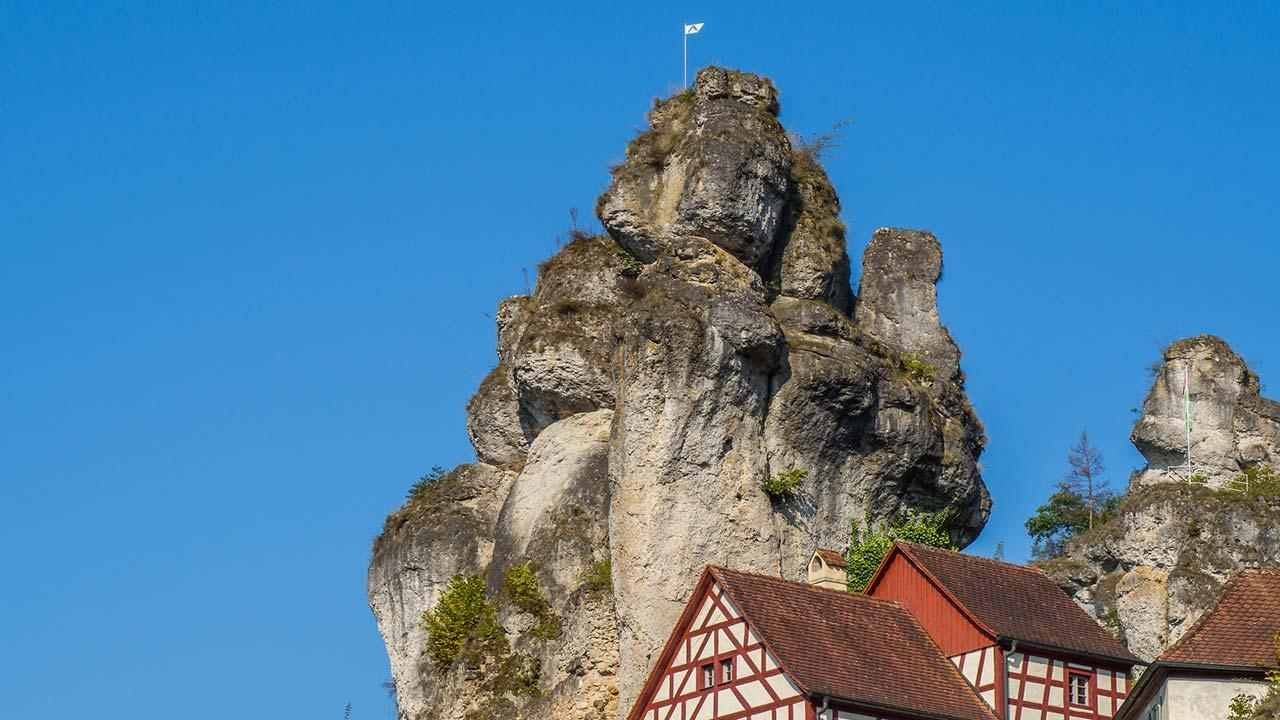 Climbing in the franconian Switzerland - Tüchersfeld