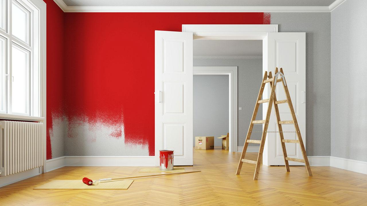 A fresh coat of paint brings momentum to your 4 walls - red walls